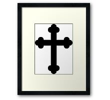 Orthodox Cross or Budded Cross Framed Print