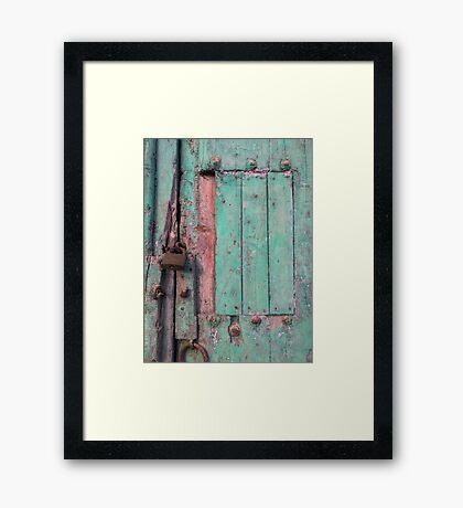 The Old Green Door Framed Print