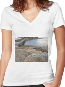 Beautiful scenery at La Perouse, Sydney, Australia  Women's Fitted V-Neck T-Shirt