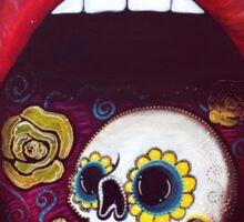 Mouth Full Of Sugar Skull Sticker
