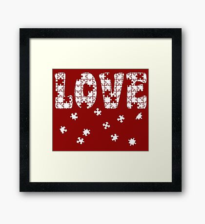 The Puzzle of Love Framed Print