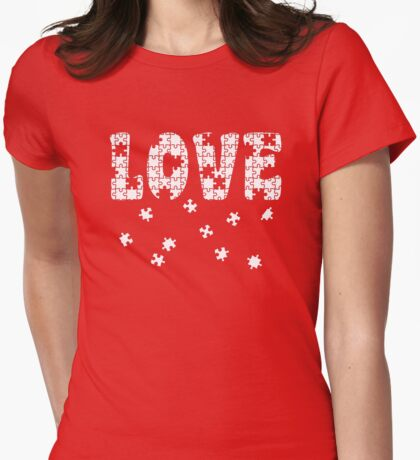 The Puzzle of Love Womens Fitted T-Shirt