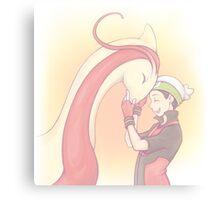Pokemon - Milotic + Trainer Ruby Canvas Print