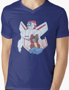 Transformers G1 - Starscream + Skyfire Mens V-Neck T-Shirt