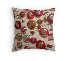 Chinese Political badges Throw Pillow