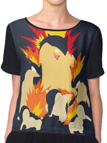 Cyndaquil - Quilava - Typhlosion Chiffon Top