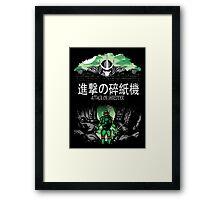Attack on Shredder (Raph) Framed Print
