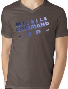 Missile Command 3D (Jaguar Title Screen) Mens V-Neck T-Shirt