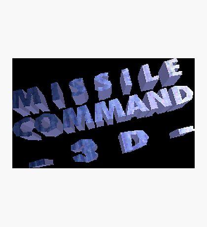 Missile Command 3D (Jaguar Title Screen) Photographic Print
