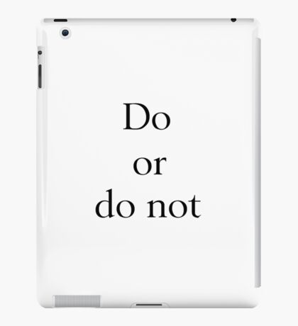 There is No 'Try' iPad Case/Skin