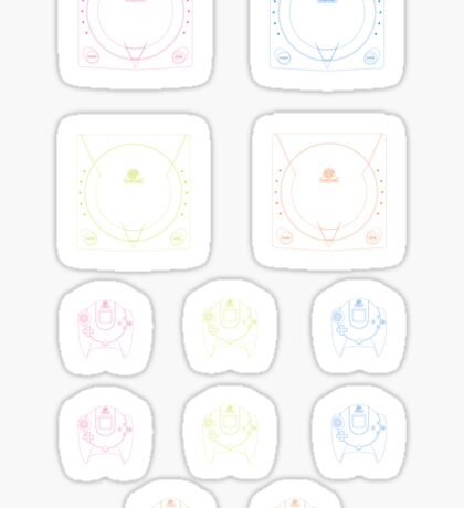 Dreamcast Outlines (white) Sticker
