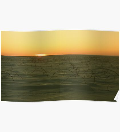 Sunset through Ski Goggles Poster