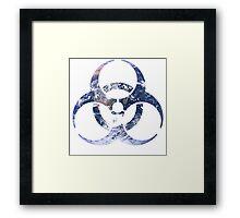 Minimalist Biohazard Earth Framed Print