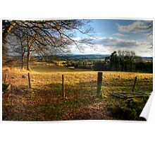 Late Afternoon, Looking Towards St Boswells Poster