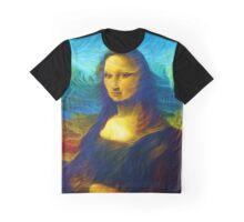 Neon Mona Lisa  Graphic T-Shirt