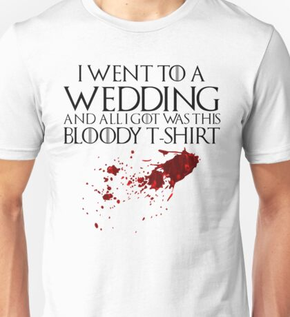 Bloody Wedding Unisex T-Shirt
