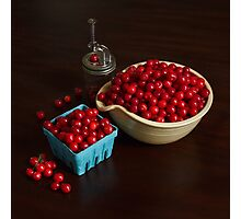 Life is Just a Bowl of Cherries Photographic Print