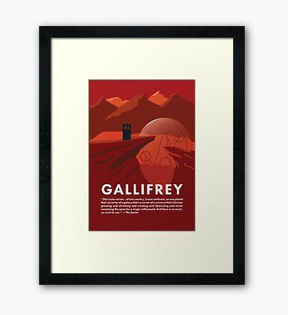 Gallifrey Poster Framed Print
