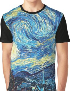 Starry Night Vincent Van Gogh Oil Painting Graphic T-Shirt