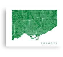 Toronto (Green) Canvas Print