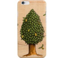 Wings on Pear Tree Coloured iPhone Case/Skin