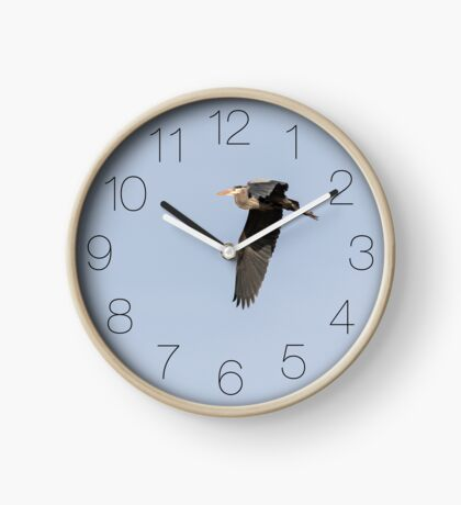Great Blue Heron Clock-3  Clock