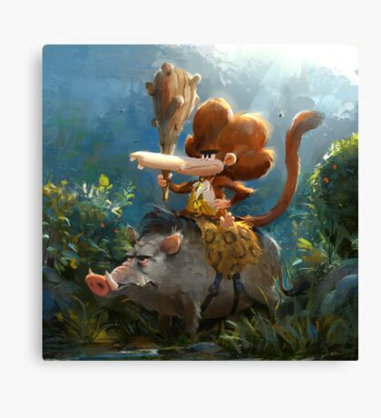 Tzika - jungle Canvas Print