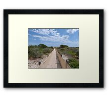 Are We Nearly There? Conserving the sand-hills. Semaphore, Adelaide. Framed Print