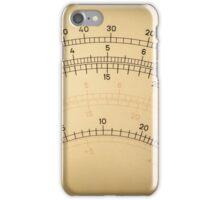 Vintage analog electric meter iPhone Case/Skin