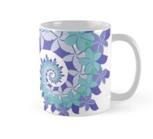 Frangipani Fractal Crown - Blue Mug