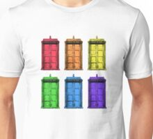 The (Rainbow) Tardis Unisex T-Shirt