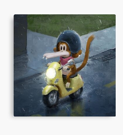 Tzika - scooter Canvas Print