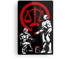 Law Enforcement in Dystopia Metal Print