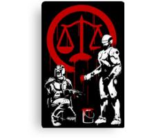 Law Enforcement in Dystopia Canvas Print