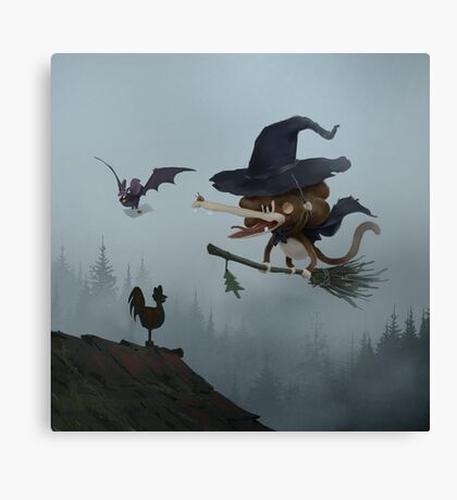 Tzika - witch Canvas Print