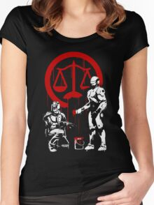 Law Enforcement in Dystopia Women's Fitted Scoop T-Shirt