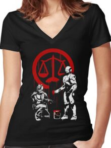 Law Enforcement in Dystopia Women's Fitted V-Neck T-Shirt