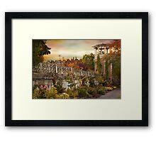The Walled Garden Framed Print