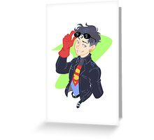 DC - Superboy - that 90's look Greeting Card