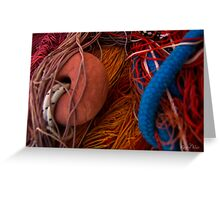 The wild and magic beauty of fishing nets ~ 17 Greeting Card