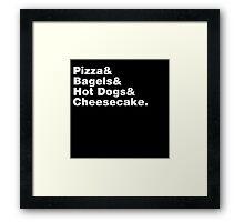 New York Foods Helvetica Framed Print