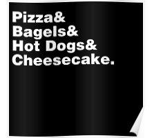 New York Foods Helvetica Poster