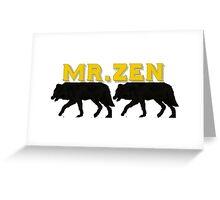 Mr. Zen Lopez Wolf Army Logo Greeting Card