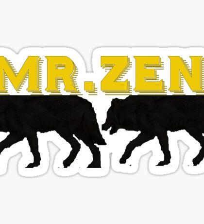 Mr. Zen Lopez Wolf Army Logo Sticker