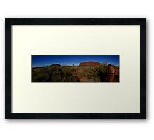 Uluru Panorama Framed Print