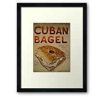 Cuban Bagel Framed Print