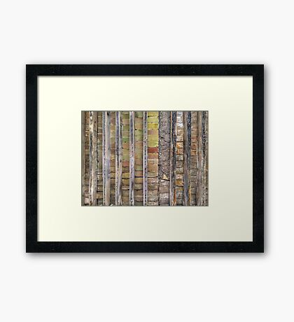 Old Timber Roof Beams Framed Print