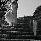Girl on Steps by Carol James