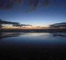 Ocean Sunset Moonrise by Royal Vileness
