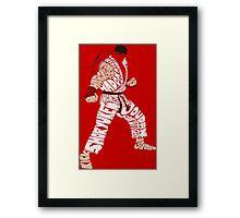 Ryu Typography Framed Print